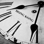 Hong Kong black and white clock face — Stock Photo #55343371