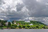 Die Stadt Gorohovets am Fluss Kljasma (Russland) — Stockfoto