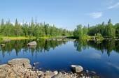 The river Unduksa in Northern Kareliya, Russia — Stock Photo