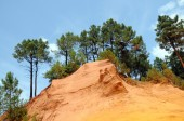 Former ochre quarry in Roussillon, France — Stock Photo