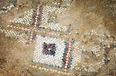 Ancient mosaic floor — Stock Photo