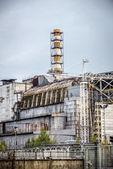 Chernobyl Nuclear Power Plant sarcophagus — Stock Photo