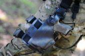 Handgun in holster — Stock Photo