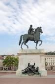 Louis XIV statue in Lyon — Stock Photo
