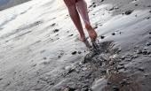 Playa andando — Foto de Stock