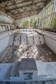 Swimming pool in Pripyat — Stock Photo