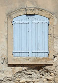 Blue shutters — Stock Photo