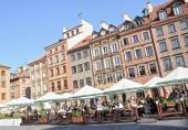 Tenement houses on Old Town in Warsaw, Poland — Stock Photo