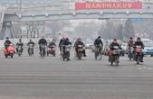 Motor scooters in Beijing — Stok fotoğraf