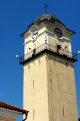 Clocktower in Poprad town. — Stock Photo