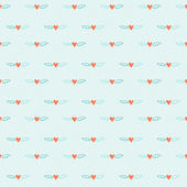 Hearts seamless pattern background — Stock Vector