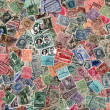 Background of old Belgian postage stamps — Stock Photo #57449657