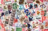 Fundo de selos belgas — Fotografia Stock