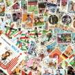 Sport - background of Cuban postage stamps — Stock Photo #57450103