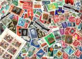 Background of German postage stamps (GDR) — Zdjęcie stockowe