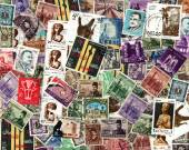Background of Egyptian postage stamps — Stock Photo