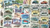 Technics. Soviet postage stamps — Stock Photo