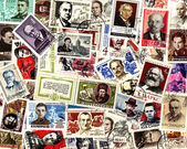 Famous people. Soviet postage stamps — 图库照片