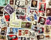 Famous people. Soviet postage stamps — Stock Photo