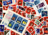 Space. Soviet postage stamps — Stock Photo