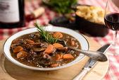 French beef bourguignon — Stock Photo