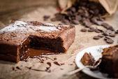 French chocolate fondant cake — Stock Photo