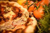 Slice of quiche lorraine — Stock Photo
