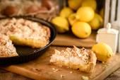 French lemon meringue pie — Stock Photo