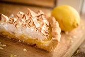 Slice of lemon meringue pie — Stock Photo
