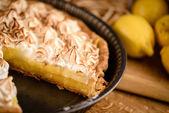 Lemon tart with toasted meringue top — Stock Photo