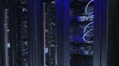 Network servers in datacenter — Stock Video