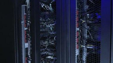 Datacenter racks of servers — Stock Video