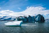 İzlanda'daki buzulun lagoon — Stok fotoğraf