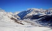 Зимнее время в Альпах — Стоковое фото