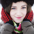 Sweet closeup smile of a young lady — Stock Photo #64044631