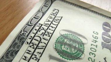 Banknotes dollars — Stock Video