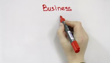 Hand block diagram for business — Stok video