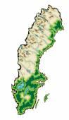Mapa švédsko — Stock vektor