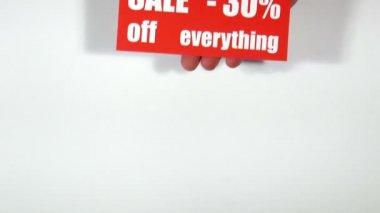Prijsvraag etiketten. verkoop — Stockvideo