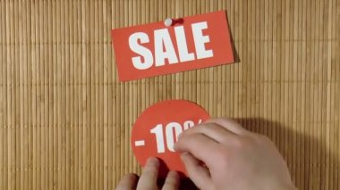 Price labels. Sale — Stock Video