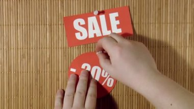 Price labels. Sale — ストックビデオ