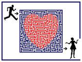 Labirinto di amore — Foto Stock