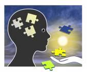 Memory Training after Amnesia — Stock Photo