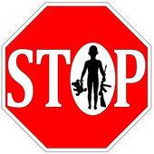 Stop Kids with Firearms — Stock fotografie