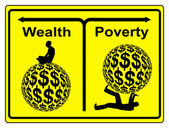 Wealth and Poverty — Stock Photo