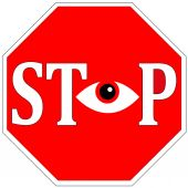 Stop Surveillance — Stock Photo