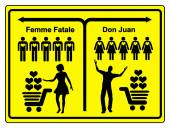 Femme Fatale and Don Juan — Stock Photo