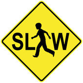 Slow Down for Kids — Stock Photo