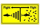 Fight or Flight Concept — Foto de Stock