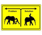 Problem versus Solution — Stock Photo